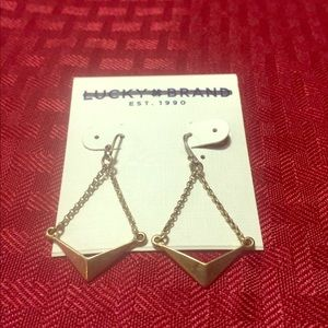 NWT Lucky Brand triangle earrings